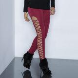 Form-Frauen-reizvolle dünne hohle Verband Jeggings Hosen