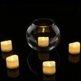 Lumière de bougie de la batterie DEL, lumière de thé de la flamme DEL de couleur, simulation de bougie décorative sans fumée