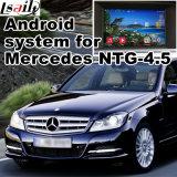 Android Interface de Navegação GPS para Mercedes Benz C, Cla, Clk, B, a, E, Ml, Glk, Gla (NTG4.5) Atualização Touch Navigation, Video Play, WiFi, Mirrorlink, Google Map