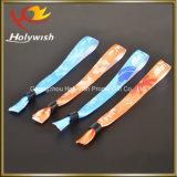 Wristband descartável da boa tela segura elevada material do poliéster do preço