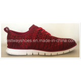 Novo design Flyknit Sports Shoes com EVA Outsole