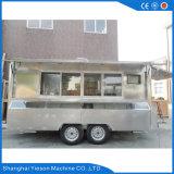 Carro móvel do alimento do restaurante móvel do aço inoxidável de Ys-Fv450A 4.5m para a venda