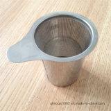 Heißer Verkaufs-breiter Griff-feinmaschiger Tee-Grobfilter-Edelstahl-ungeheftet-Tee Infuser