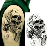 Etiquetas engomadas temporales impermeables del tatuaje del brazo de moda del cráneo