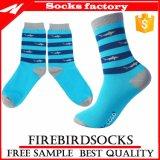 Glückliche Socken mit Himmel-Blau-Zoll Ihre Entwürfe