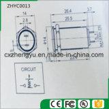 interruptor de pulsador del metal de 12m m con la pista plana y la función de autoretención