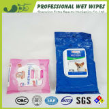 Animal doméstico que baña trapos antibacterianos mojados del animal doméstico de la limpieza