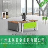 [ل] حديثة شكل [إإكسكتيف وفّيس منجر] مكتب مع معدن طاولة ساق