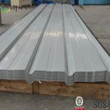 L'acier en métal a enduit les feuilles d'une première couche de peinture ondulées en acier galvanisées de toiture