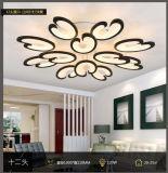 De acryl LEIDENE van de Vorm van het Hart Moderne Lichten van het Plafond