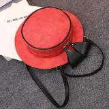 Sacchetti rotondi di Crossbody dell'arco del partito del sacchetto delle ragazze sveglie del cappello della borsa della spalla con la cinghia nera Sy8173 dell'unità di elaborazione
