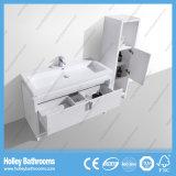 Пол MDF - установленный шкаф ванной комнаты с светильником СИД и шкафом стороны (BF386D)