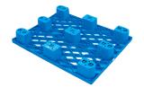 1200*800*140mmのHDPEの単一の側面のプラスチックパレット倉庫のためのパレット9フィートの