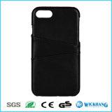 Leder-rückseitiger Kasten-Deckel mit Einbauschlitzen für iPhone 6/6 Plus-/6s/6s plus
