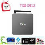 P&Y 기술 공장 판매 좋은 품질 Amlogic S912 2GB 32GB 인조 인간 6.0 Octa 코어 텔레비젼 상자 Tx8