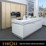 自然な木製のベニヤの食器棚および石造りのContertops Tivo-0199V