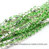 Цепь Rhinestone цепи Ss38 чашки стеклянных бусин латунная для шнурка (кристалл TCS-SS38)