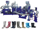 Rainshoes, das Farbe der Maschinen-zwei bildet