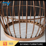 Home Furniture Rose Gold Side Table com Marble Top