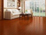 Suelo de múltiples capas rojo marrón de madera sólida