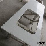 Искусственний Countertop кухни камня кварца с раковиной нержавеющей стали
