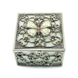 Rectángulo de joyería de cristal de la manera de la insignia de las mujeres de encargo de lujo del almacenaje Hx-7338