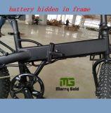 Bateria 2017 escondida na bicicleta de dobramento elétrica do pneu gordo do frame