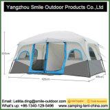 Barraca de acampamento Backpacking impermeável provisória para qualquer tempo de 2 quartos