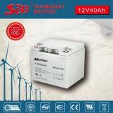 Ciclo profondo della batteria 12V40ah del gel per energia pulita