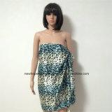 100% полиэфир, шарф сатинировки материальный многофункциональный с печатание леопарда