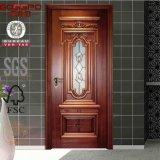 Porte en bois de Galss souillée par acajou de salle de bains (GSP3-012)
