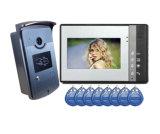 ' téléphone de porte de vidéo de couleur de l'affichage à cristaux liquides 7 pour la garantie de Chambre