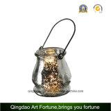 Yute Handle tarro de vidrio de Mercurio / florero para la decoración casera