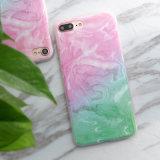 De slanke Marmeren Dekking van het Geval van de Telefoon TPU van de Textuur Zachte voor iPhone7