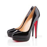 Пятка женщин высокого качества высокая обувает сексуальные ботинки платья сандалий