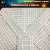 Tessuto dell'assegno tinto filato di nylon con la sensibilità della mano molle per la camicia