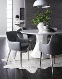 Aço inoxidável escovado novo de projeto simples da forma que janta a cadeira (NK-DCA074)