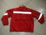 Ropa de trabajo de la producción de la fábrica, chaquetas y pantalones de encargo, tela de largo envuelta, opcional, estilo