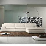 Sofà italiano moderno di lusso di svago del sofà del salone del cuoio genuino (UL-NSC020)