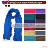 Bufanda de seda de los items del poliester de la piel de ante promocional de la bufanda (C1031)