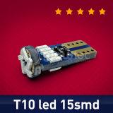 LED T10 Canbus LED W5w Canbus T10 LED 15SMD 3014 LED Nonpolarity Glowtec chiaro esterno chiaro