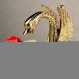 Faucet chapeado ouro do banheiro do punho do estilo Bionic único