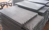 穏やかな鋼鉄拡大された金属の網