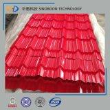 ISO9001の着色された波形の鋼鉄屋根ふきシート