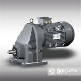 R Motor van het Toestel van de Versnellingsbak van het Reductiemiddel van de Snelheid van de Reeks de Voet Opgezette