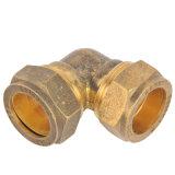 Coude en laiton de laiton de pièce en t de garnitures en laiton de compression