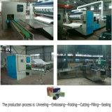 Automático V Folding Facial Tissue Paper Production Machine Linha Completa