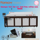 Full Hot Air Lead-Free Reflow Oven with Six Heating-Zones