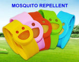 Браслет эффективного напольного москита силикона шлепка Repellent с Refill усмешки