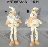 봄 손 자수 2asst.를 가진 다리가 있는 산타클로스 눈사람 휴일 훈장